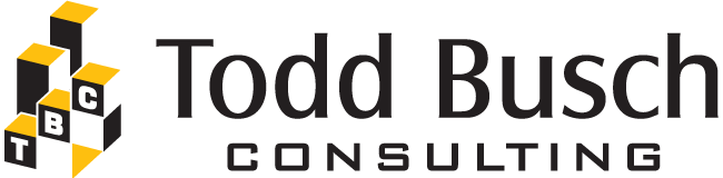 Todd Busch Consulting logo, stacked blocks